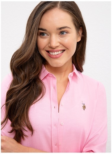 U.S. Polo Assn. U.S. Polo Assn.  Açık Pembe Gömlek Pembe